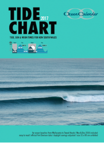 2017 Ocean Calendar Tide Chart for New South Wales