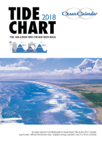 2018 Ocean Calendar Tide Chart for New South Wales
